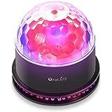 OxyLED® ST-01 Mini Luce da Palco, Palla Magica Rotante, 51 LED RGB, Controllo Vocale / Automatico, Ideale per DJ, KTV, Disco e Festa