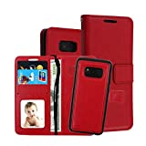 Phone Case for Samsung Galaxy S8 Case Leather Flip Wallet Case Samsung Galaxy S8 PU 2 in 1 Kickstand Case Cover (7, Samsung S8)