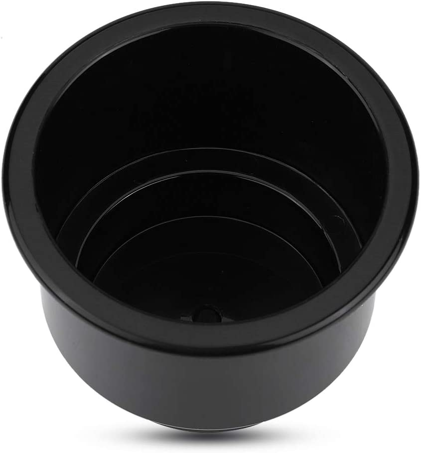 Cup Holder,Marine Cup Holder,Marine RV Boat Yacht Plastic Drink Cup Bottle Can Holder With Insert Drain Hole Universal White
