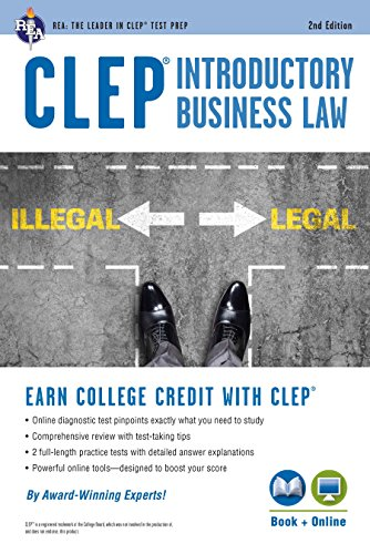 CLEP Introductory Business Law Book + Online, 2nd Ed. (CLEP Test Preparation)
