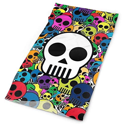 Deconove Psychedelic Skulls Wallpaper Original Headband with Multi-Function Sports and Leisure Headwear UV Protection Sports Neck, Sweat-Absorbent Microfiber Running, Yoga, Hiking