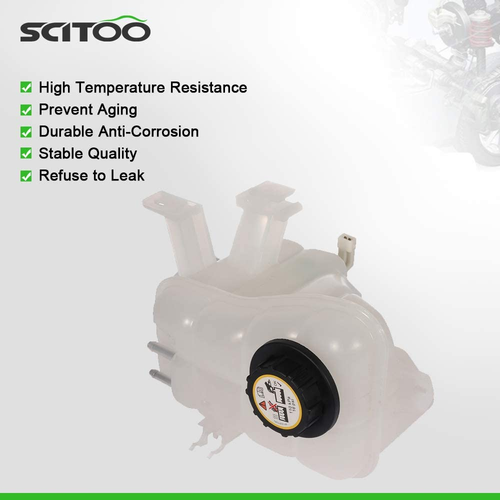 SCITOO 3F1Z 8A080-EA Coolant Reservoir Bottle Coolant Overflow Tank Fits For 1996-2005 Ford Taurus 1996-2005 Mercury Sable