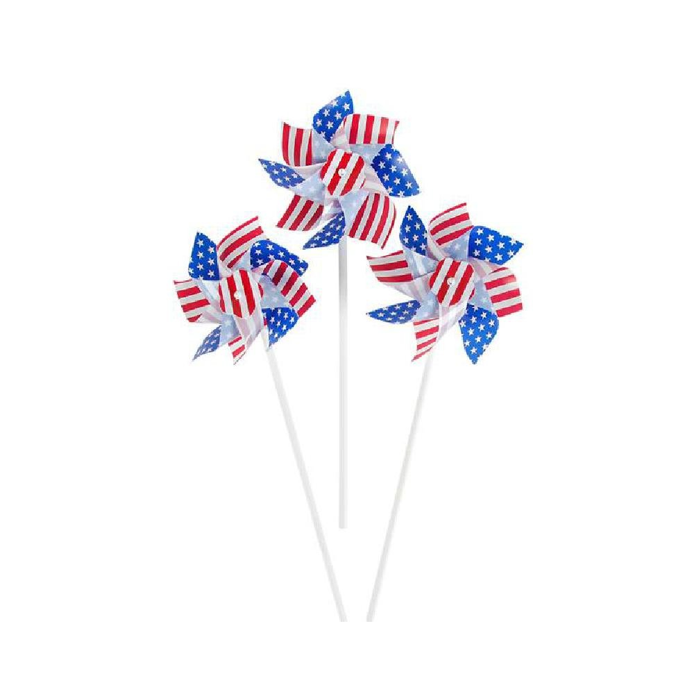 6'' Stars And Stripes Pinwheel (With Sticky Notes)