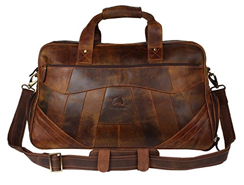 Leather Travel Duffel Bag Overnight Weekend Luggage Carry On Underseat Airplanes by RusticTown