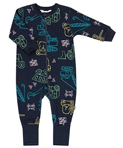 JOHA - Niño pijama bebé Pelele EDIFICIO SITE con Motivos de vehículos de construcción en azul