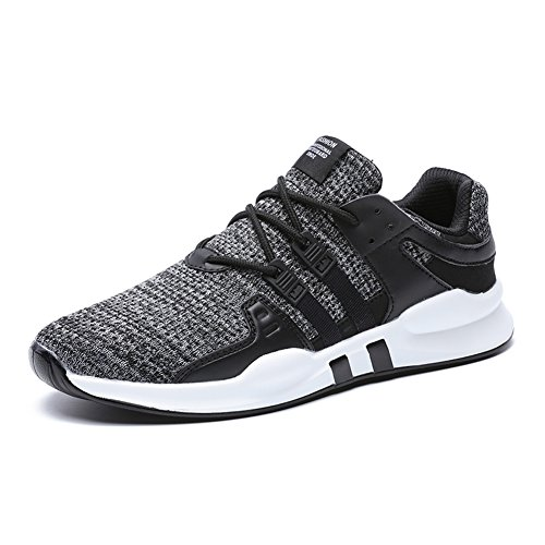 Mens Breathable Running Shoes Lightweight Athletic Shoes Sneaker Sport/Walking/Trial Running/Casual/Fashion-Grey46