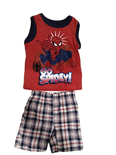 spider-man+tank+tops Products : Spider-Man Tank Top and Short Set For Baby Boys - Go Spidey