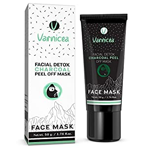 Facial Detox Charcoal Peel Off Mask - Remove Blackheads & Purifying, Radiant Skin, Detoxify | Easy Use for All Skin Type, 1.76 Ounce