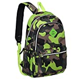 Cheap Camouflage 19-Inch Student School Book Bag & kid's Sports Backpack, Green