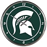 NCAA Michigan State Spartans WinCraft Official Chrome Clock