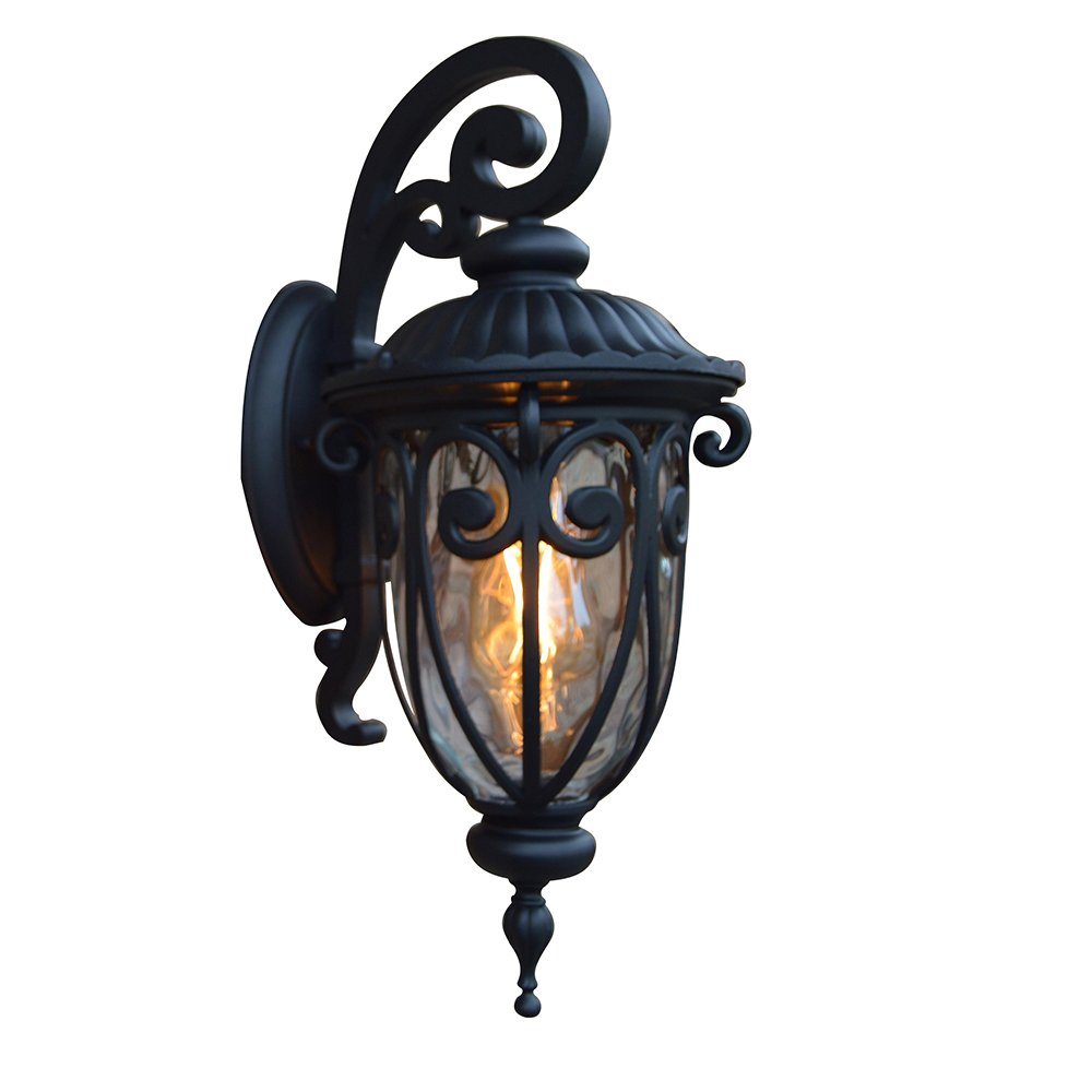 Y Decor EL591SBL Hailee 1 Exterior Matte Black Finish Outdoor Wall Lighting