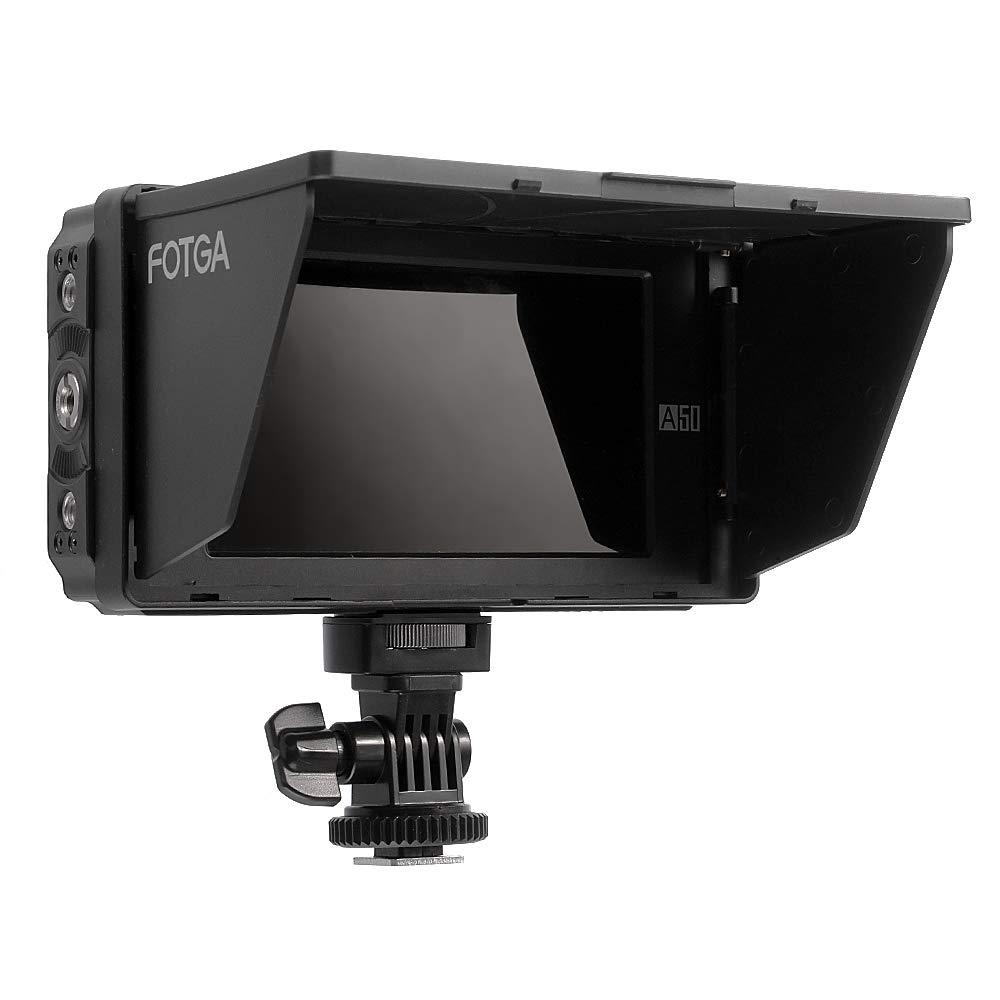 510cd // m2 doble placa de bater/ía NP-F para c/ámara de cine sin espejo DSLR entrada // salida HDMI 4K 1920x1080 Fotga DP500IIIS A50T 5 Inch FHD Monitor de campo de video en c/ámara IPS
