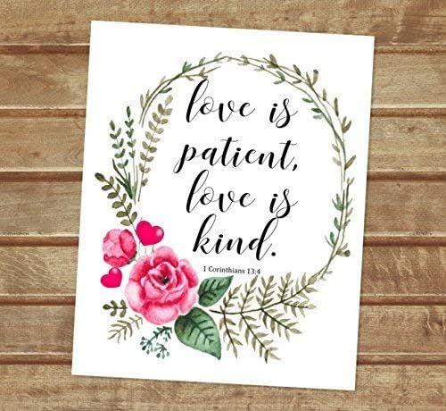 Amazon.com: Love Is Patient, Love Is Kind, 1 Corinthians