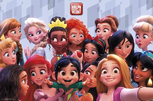 Trends International Wreck It Ralph 2-Princess Clip Bundle Wall Poster 22.375