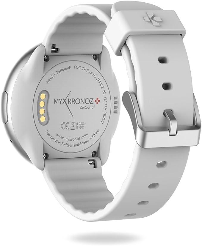 MyKronoz ZeRound2 - Smartwatch con Pantalla táctil a Color, micrófono Incorporado y Altavoz de 1.22