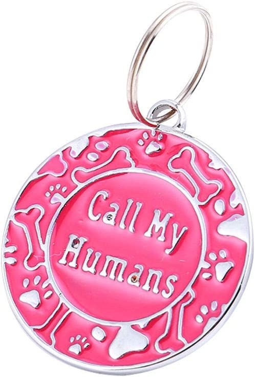 Dog Identity tag, Fashionable Dog and cat pet nameplate, Call me Human Funny pet nameplate