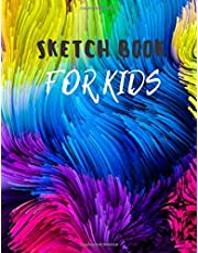 Sketch Book: Notebook for Drawing, Writing, Painting, Sketching or Doodling, 110 Pages, 8.5x11 (Premium Abstract Cover vol.98)