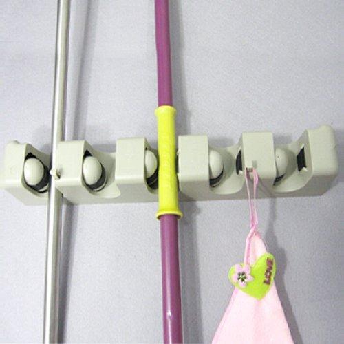 Ducomi® – Soporte para ordenar palos de escoba, herramientas ...