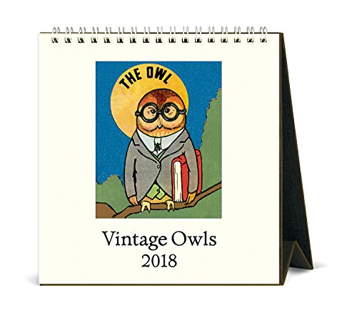 Cavallini Papers & Co Vintage Owls 2018 Desk Calendar (Owl Desk Calendar)