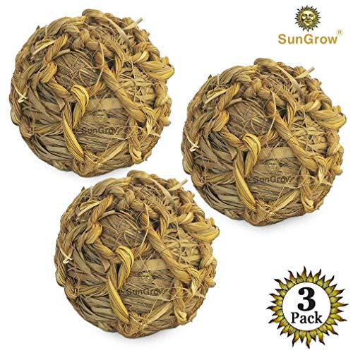 Chew Perfect (SunGrow Natural Seagrass Ball - Perfect & Safe Chewable Teething Toy for Rabbits, Cats, Hamsters, Gerbils & Birds : Healthy for Your Pet's Gums & Teeth)