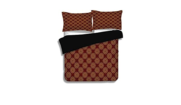 King Size Sloth /& Indian Ethinic Duvet Cover Pillow Cases Reversible Bedding Set