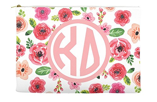 Kappa Delta Daisys Purple Cosmetic Accessory Pouch Bag for M