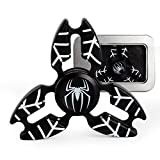 Marvel Heroes - Metal Fidget Spinner Toy Helps Focusing, Stress Reducer/Relief Perfect For Boredom EDC ADD Anxiety and Autism for Adult & Children, High Speed and Quiet Bearing (Black Spider-man)
