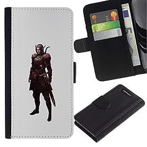 Supergiant (Swordsman Pc Game Elf Warrior Mystical) Dibujo PU billetera de cuero Funda Case Caso de la piel de la bolsa protectora Para Sony Xperia Z3 Compact /D5803 / D5833