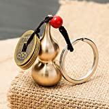 Feng Shui Coins with Brass Calabash Wu Lou Key