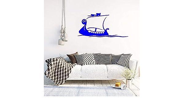 zhuziji Tatuajes de Pared Ocean Sea Boat Pattern Vinilo ...