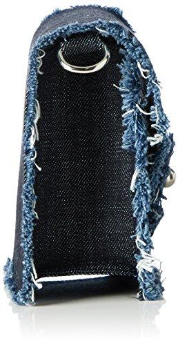Paul & Joe Damen Fbobby Umhängetasche, Blau (Denim), 7 x 14 x 18 cm