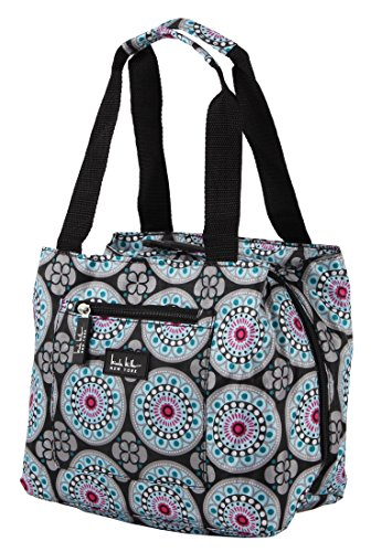 Nicole Miller of New York Insulated Lunch Cooler 11 Lunch Tote (Kaleidoscope Black)