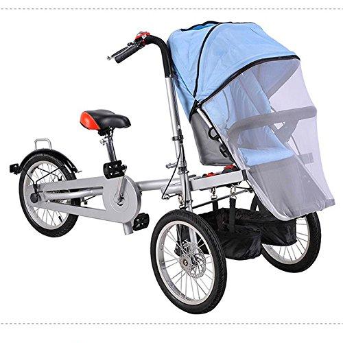 16 Inch 3 Speed Comfort Bike Folding Bike Cycling Double Disc Brake Suspension Fork Steel Frame Ordinary/Standard Steel Aluminium Alloy (Blue)