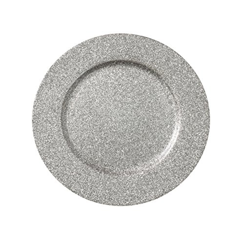 Decorative Glitter Charger Plate, 13