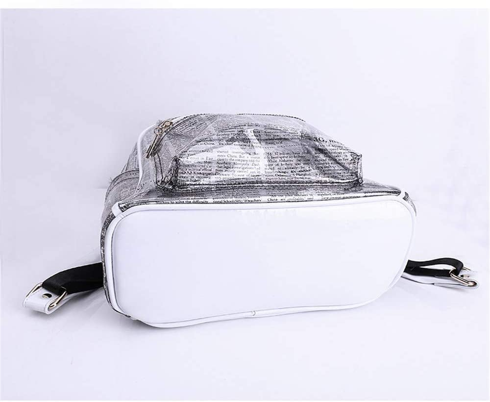 KJVHJN Womens Backpacks Transparent PVC PU Leather Plenty Room Waterproof Shoulder Bag for Work Shopping Travel Daily College School Bag Color : Gold, Size : 281633cm
