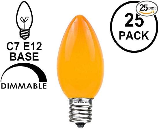 """6 Vintage GE  C7 /"""" Green/"""" Christmas Light Bulbs Tested /& Working"""