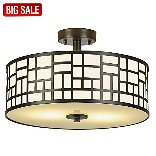 Sottae Elegant 2 Lights Modern Chrome Finish Glass Diffuser Livingroom Bedroom Flush