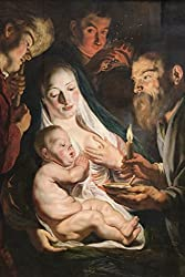 The Holy Family with Shepherds, by Jacob Jordaens, 44x66-inch Canvas Giclée, Gallery Wrap, Museum Size