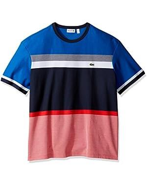 Men's Honey Comb Engineered Stripe T-Shirt