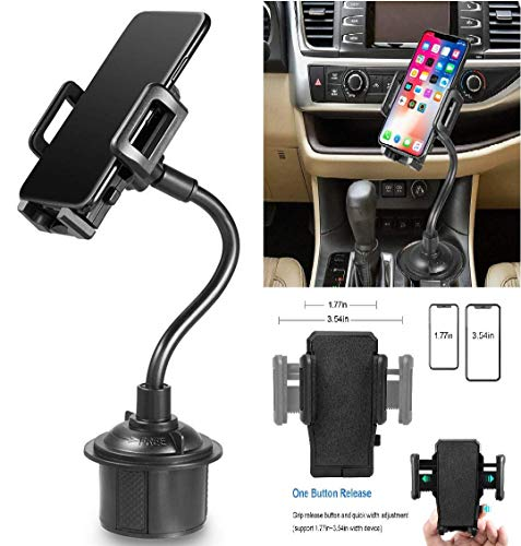 Galaxy Wireless Car Cup Holder Phone Mount with Longer Gooseneck Neck & 360° Rotatable Cradle for Galaxy Note 10/Note 10 Plus/Note 9/A10e/A50/A30/A20/A20e Cup Mount from Galaxy Wireless