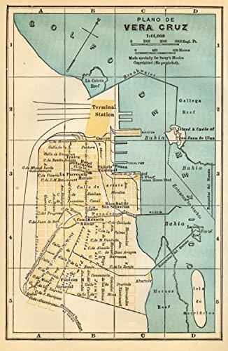 Amazon Com Plano De Veracruz Mexico Mapa De La Ciudad City Town