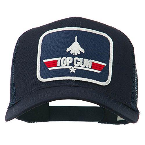 Navy Top Gun Military Patched Mesh Cap - Navy OSFM -