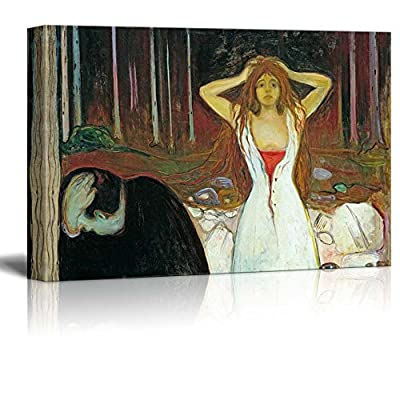 Elegant Portrait, it is good, Ashes by Edvard Munch Print Famous Painting Reproduction