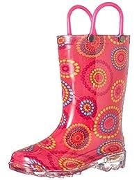 Western Chief Kids Carnival Dots Light Up Rain Boots