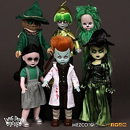 MEZCO TOYS~LIVING DEAD DOLLS~LOST IN OZ~EMERALD VARIANT~THE LOST AS DOROTHY~