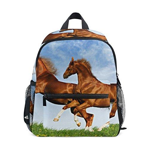 LORVIES Two Horses Frolic On The Plain Mini Kids Backpack Pre-School Kindergarten Toddler ()