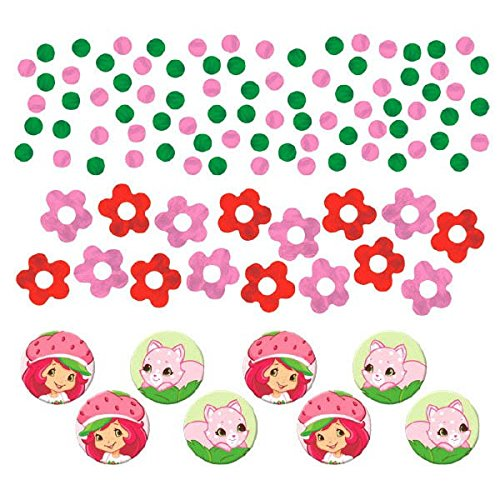 Amscan Pretty Strawberry Shortcake Birthday Party Value Confetti Decoration (1 Piece), 1.2 oz, ()
