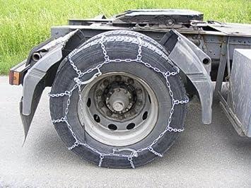 1 par Cadenas de nieve para camiones 315/80 x 22.5 schlepper Cadena de nieve 305/75 x 24.5: Amazon.es: Coche y moto