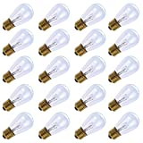 20 Pack of S14 Clear Bulbs 11 Watt Warm Replacement Incandescent Glass Light Bulbs with E26 Medium Base for Indoor and Outdoor Commercial Grade Outdoor Patio Vintage String Lights