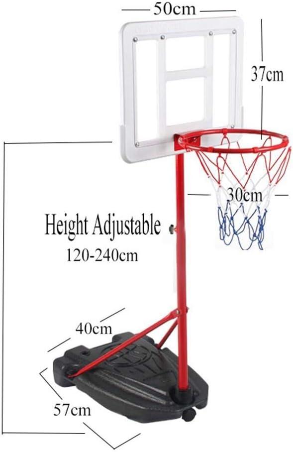 SUON Canasta De Baloncesto Altura Ajustable 120-240cm Ni/ños Canasta Aro De Baloncesto Adulto Movimiento Al Aire Libre